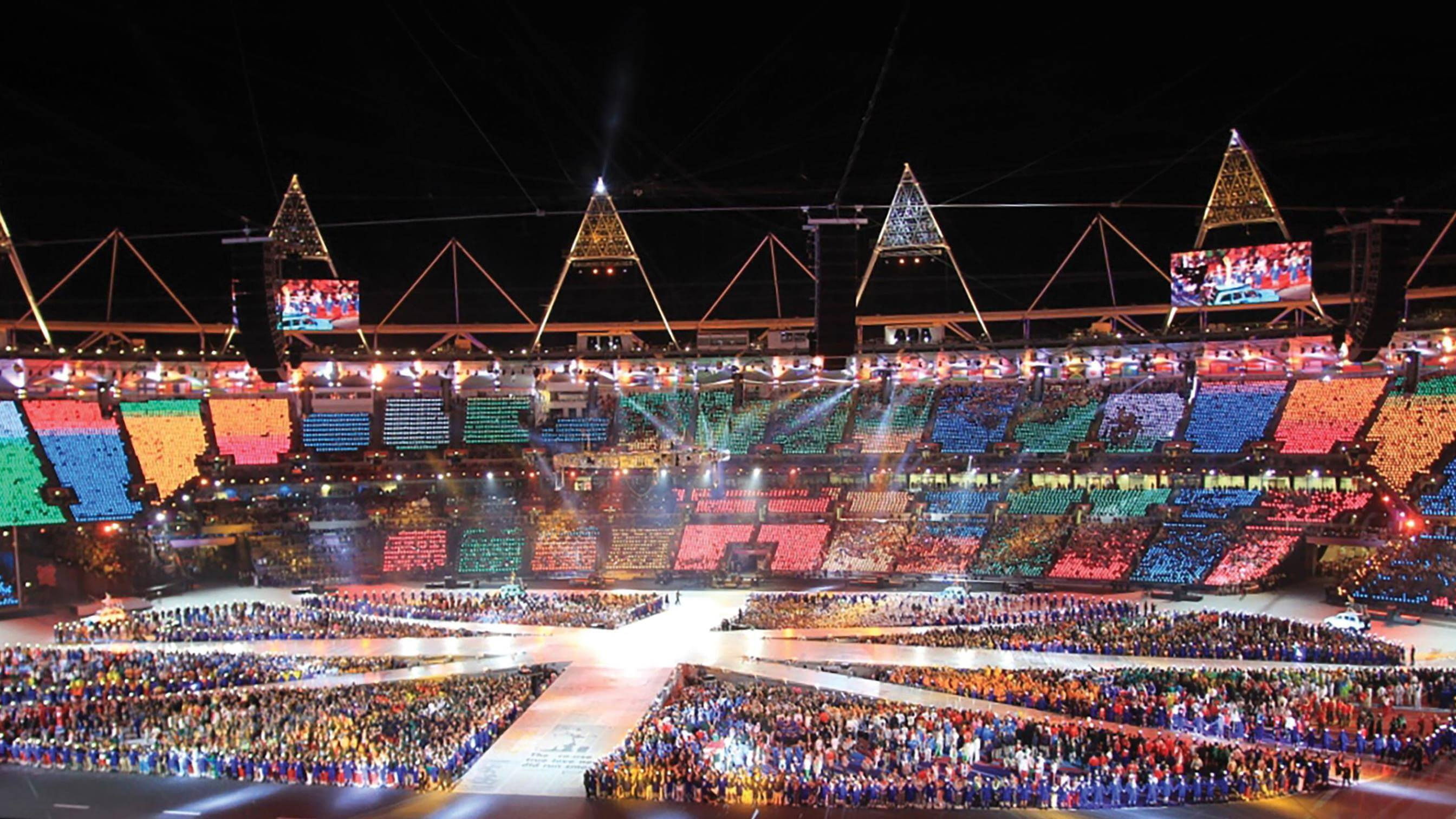 London Olympics ceremony in stadium