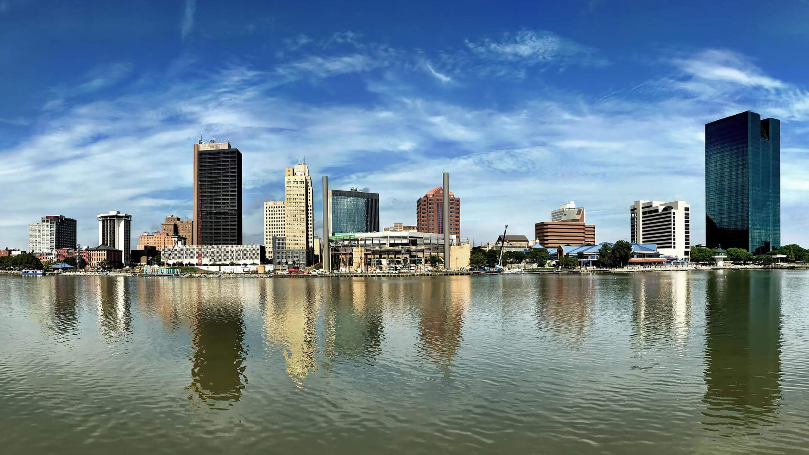 Ohio skyline from across the water