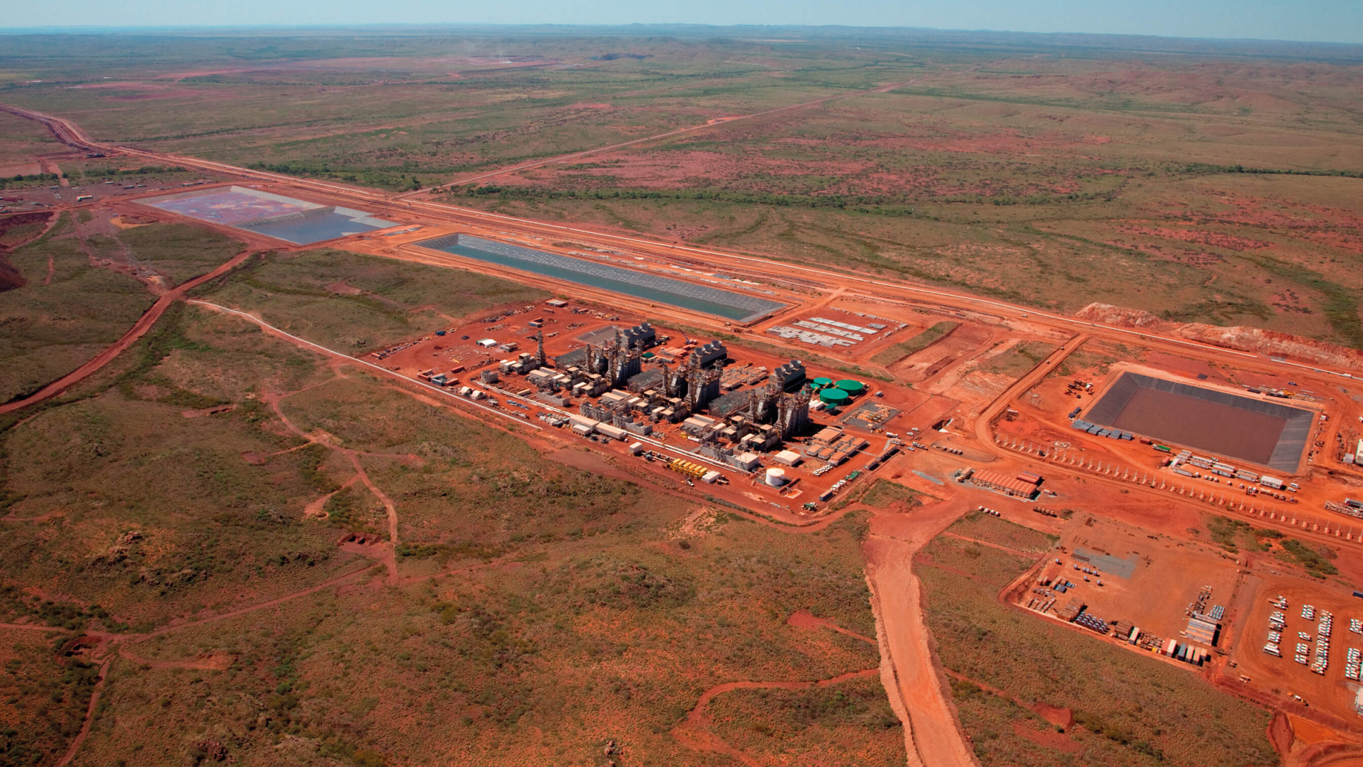 Iron ore mine in the Australian outback