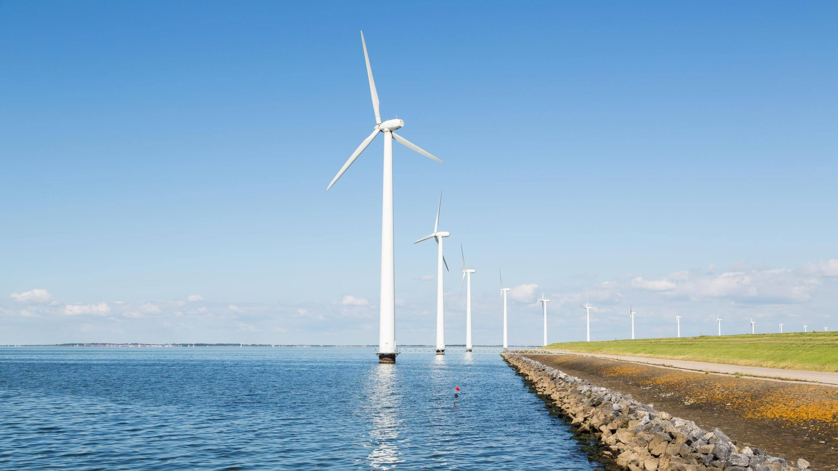 Generators help power wind farm