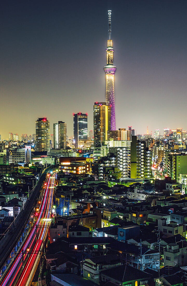 Japan city at night