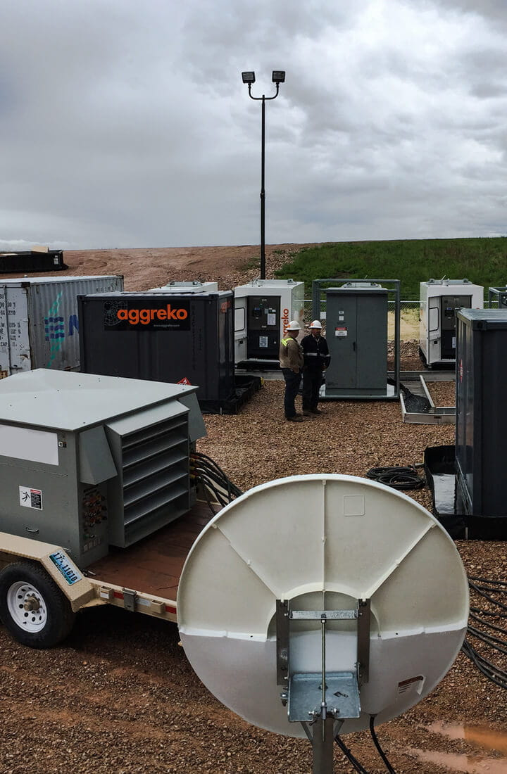 Aggreko generators in field