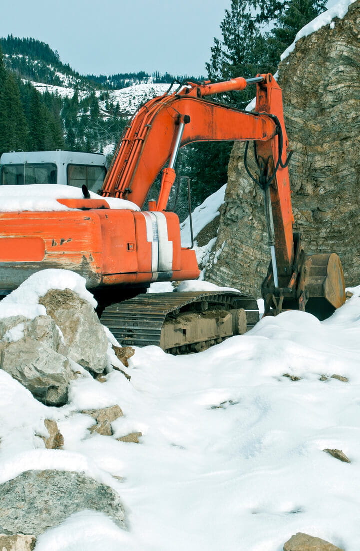 removing snow in mountains