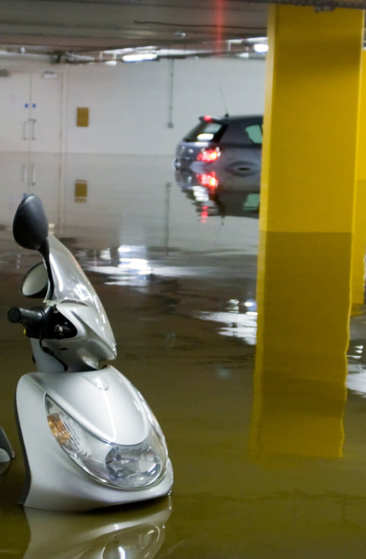 flooded high rise scooter