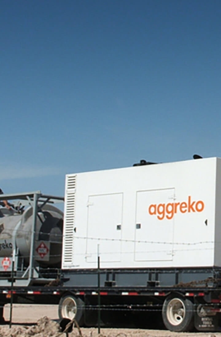 Aggreko generator at oil well