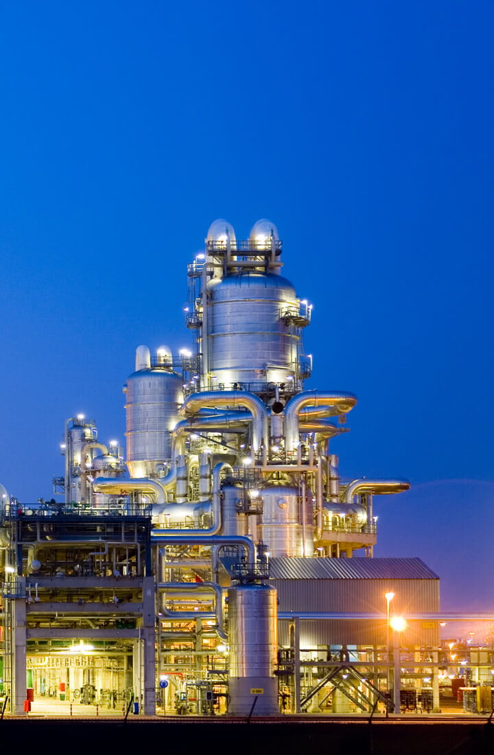 netherlands refinery night