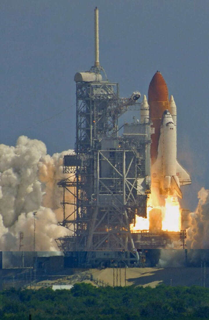 space shuttle take off