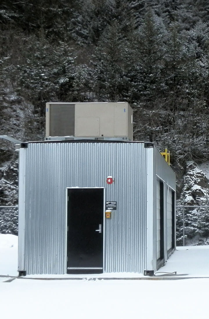 battery in snow