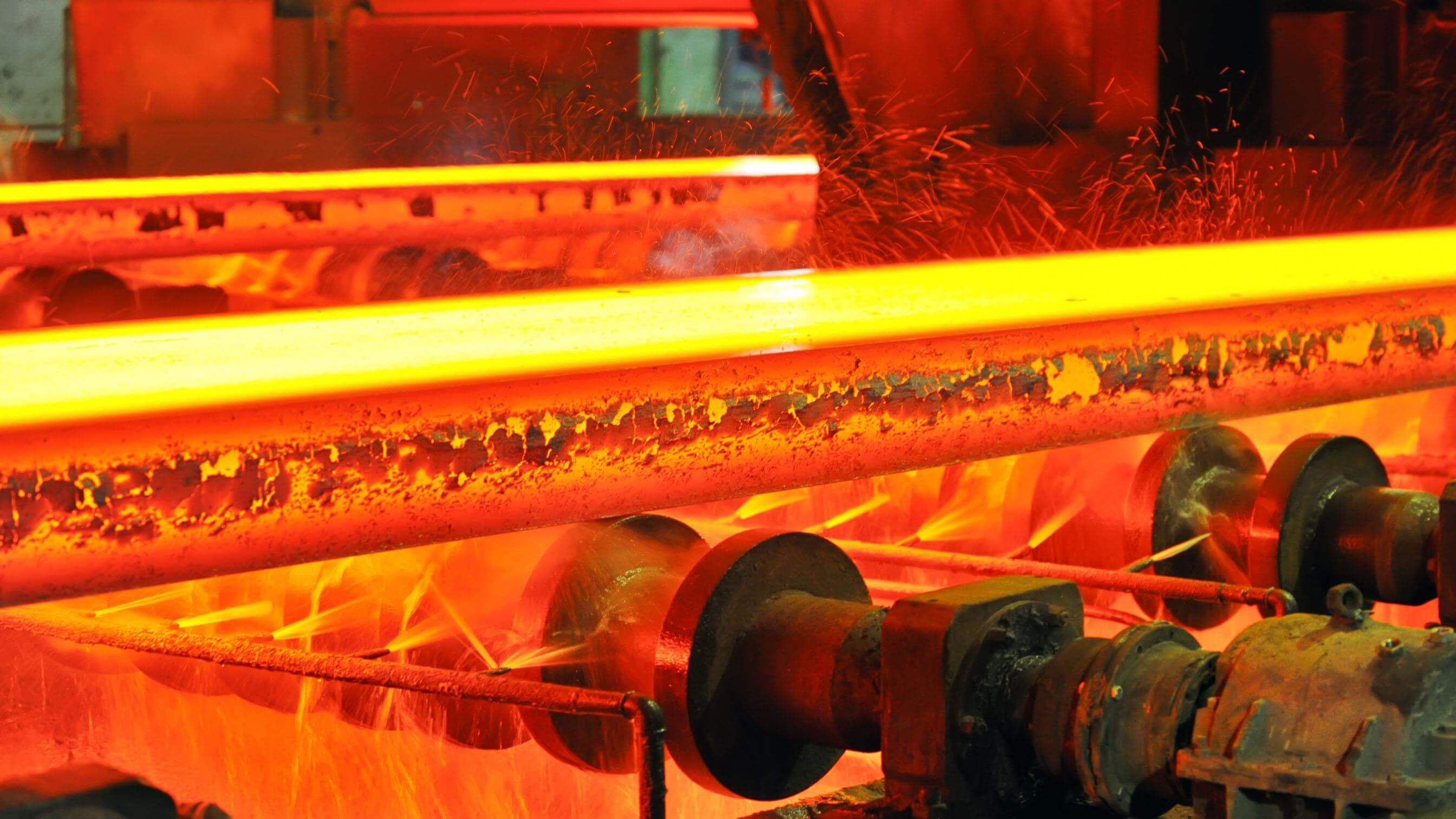 red hot melting steel