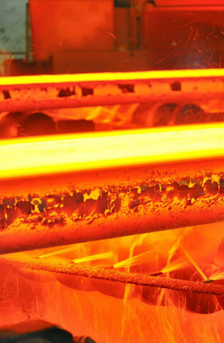 Red hot steel manufacturing process