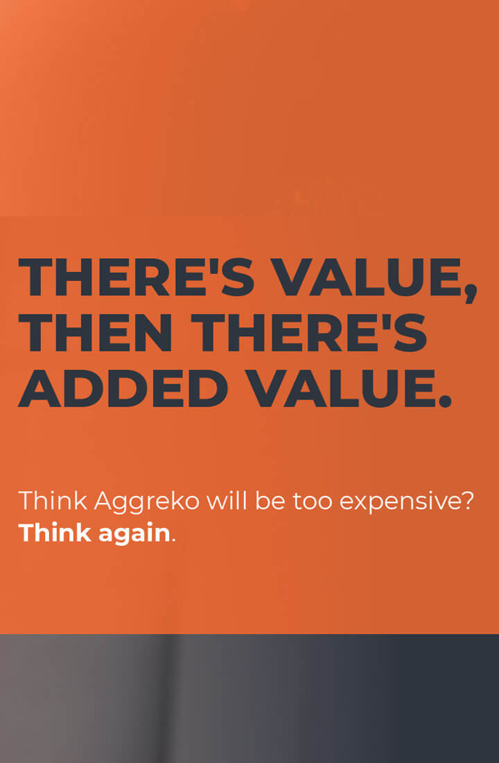 Added value with Aggreko for construction generator hire