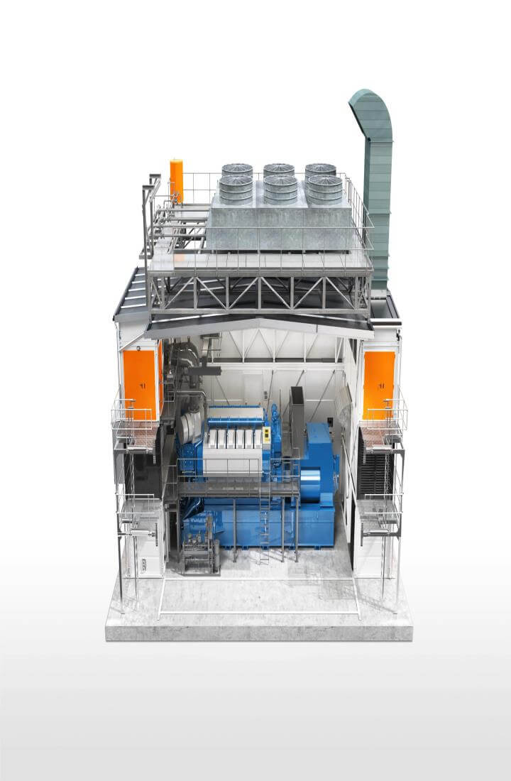 Mobile image of Wartsila power block
