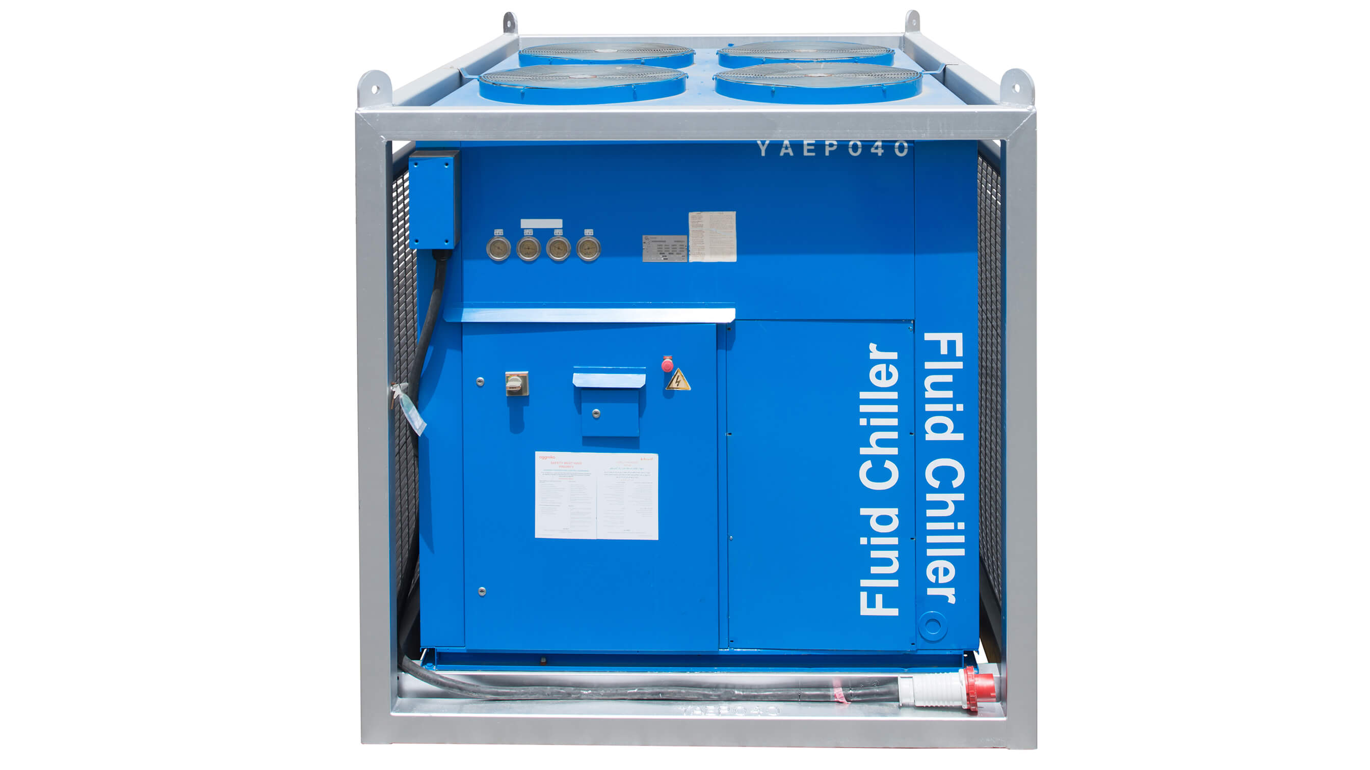 Chiller 150 kw front