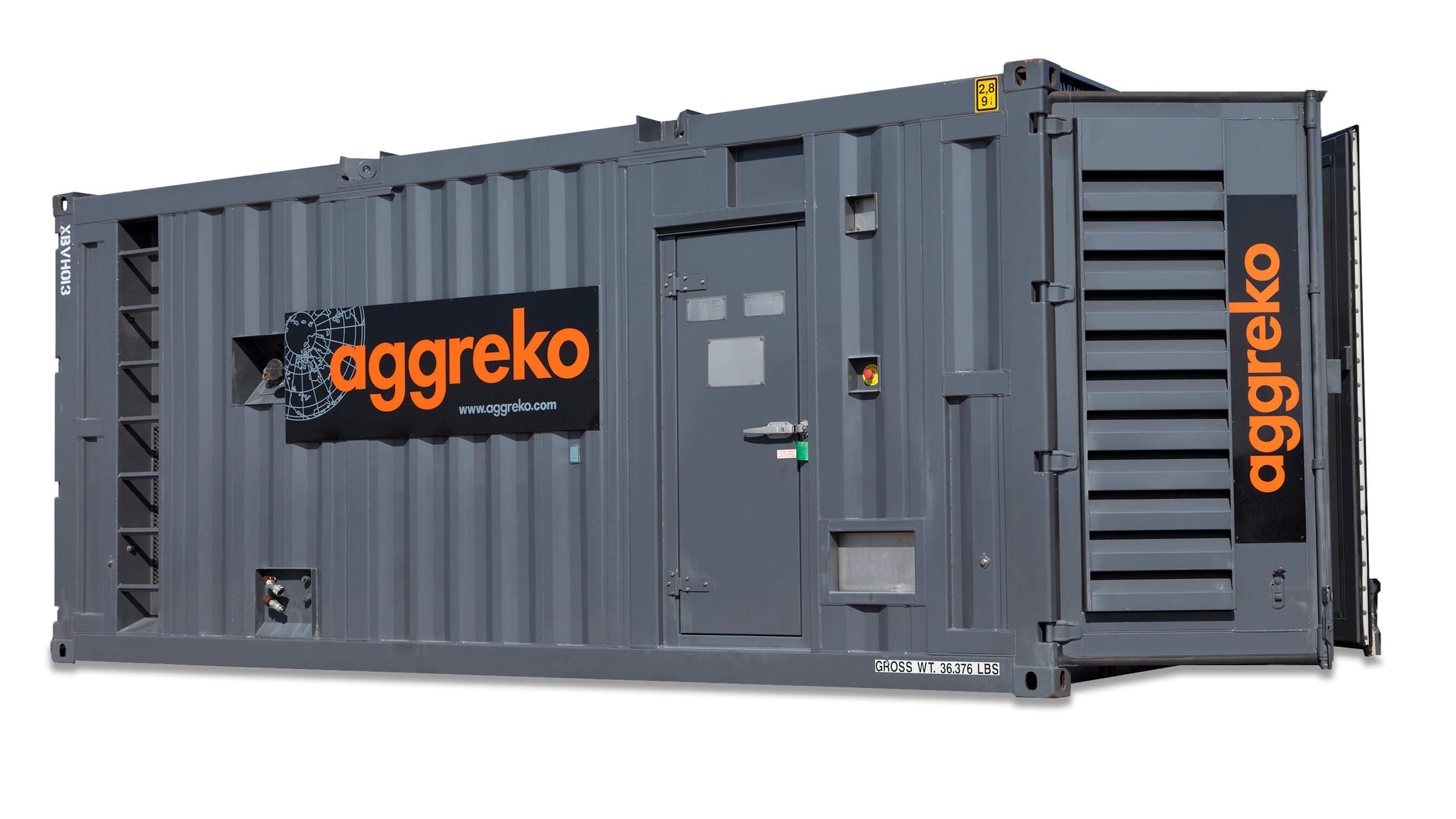 Containerised Diesel Generator 1000 Kva Aggreko