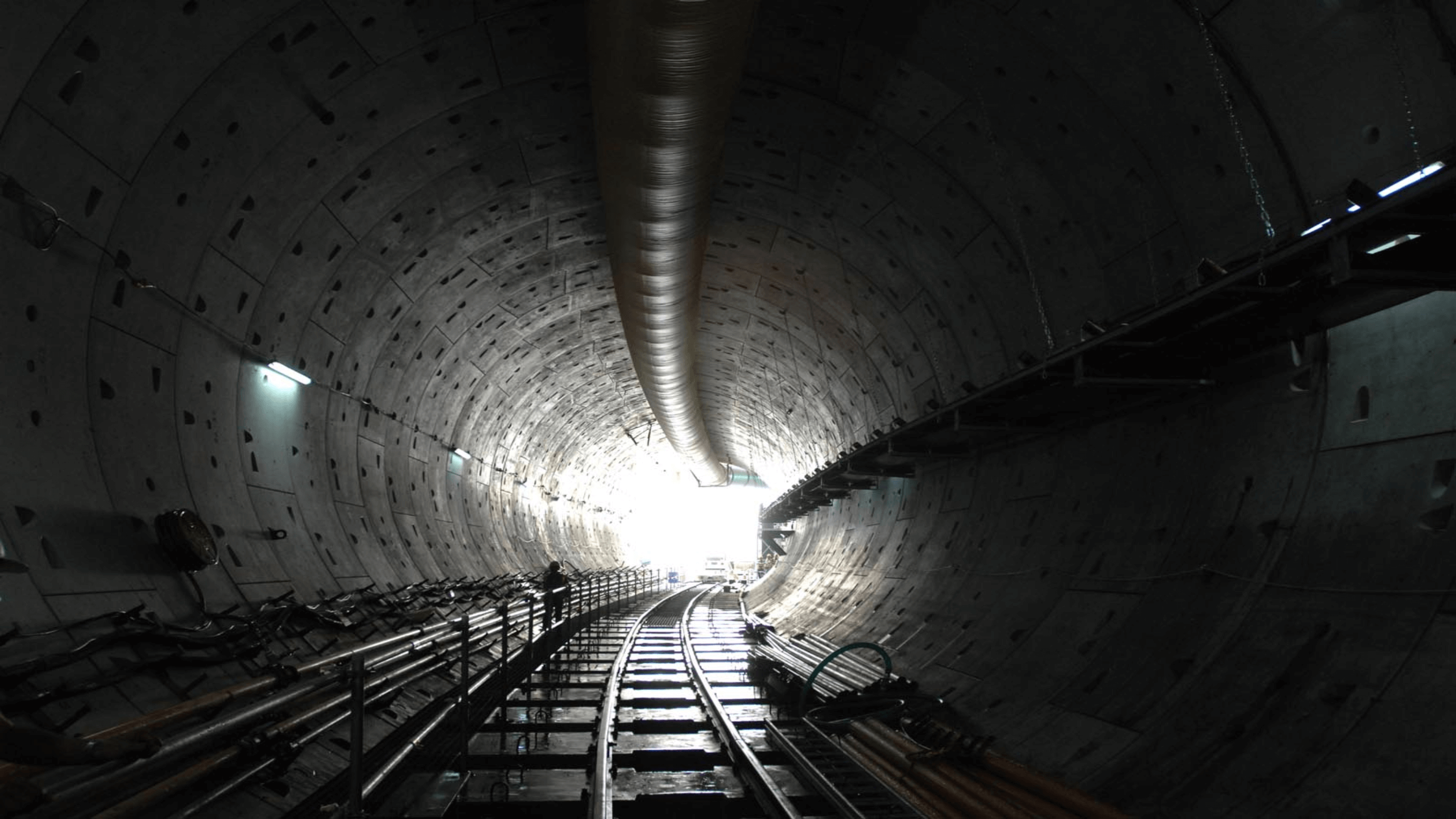 Metro tunnel under construction