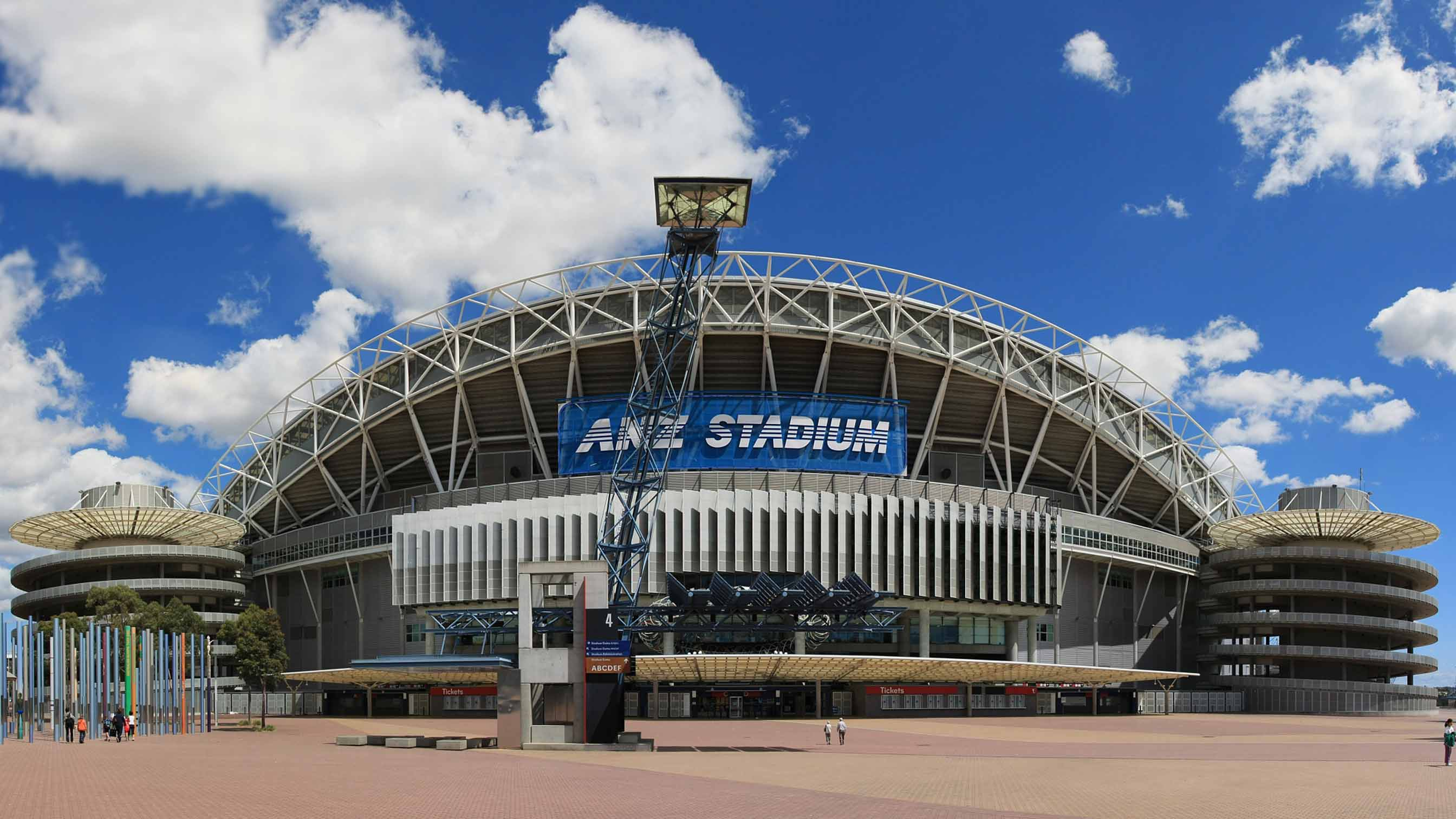 Exterior of ANZ stadium in Australia