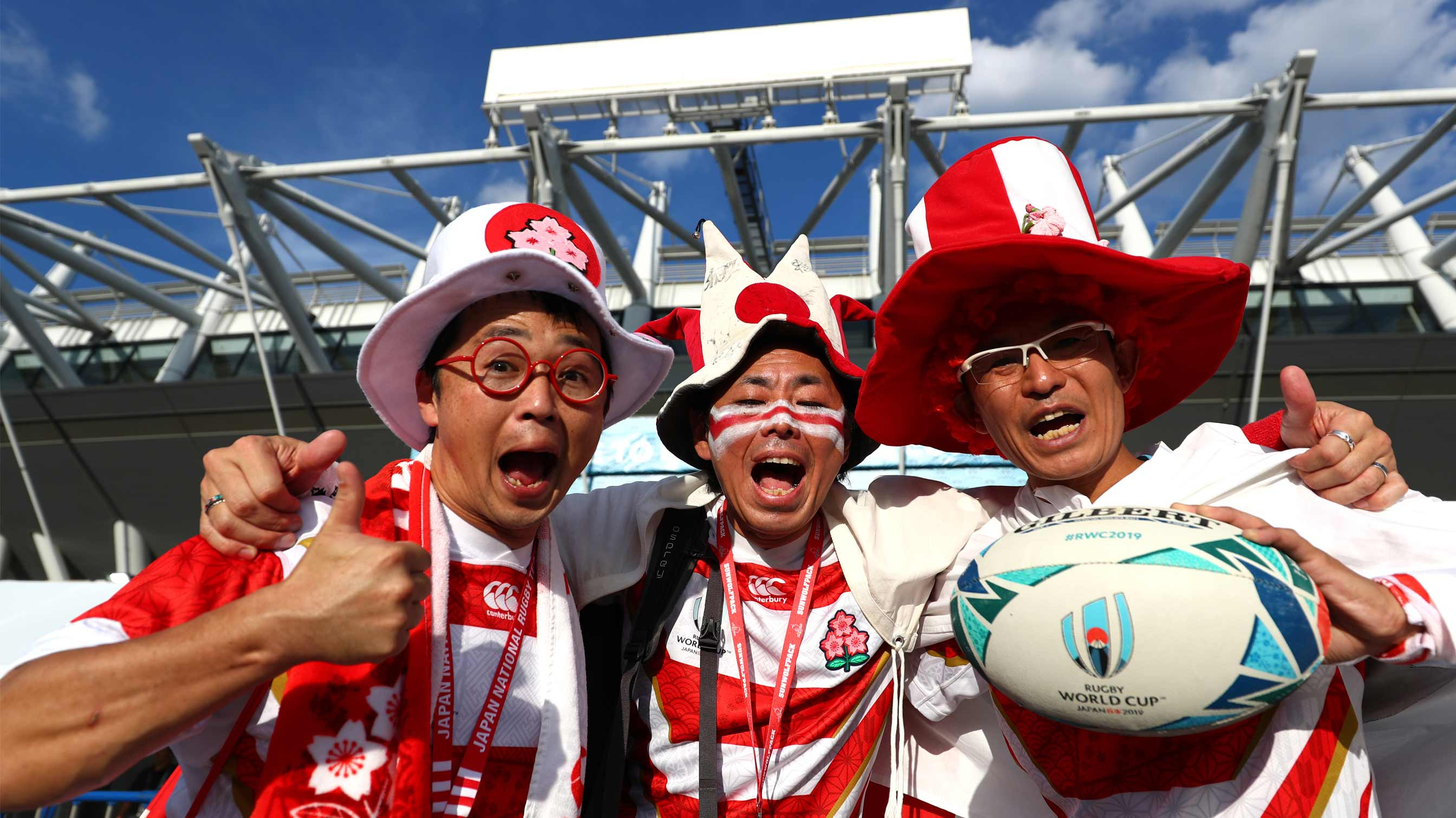 Japanese rugby fans