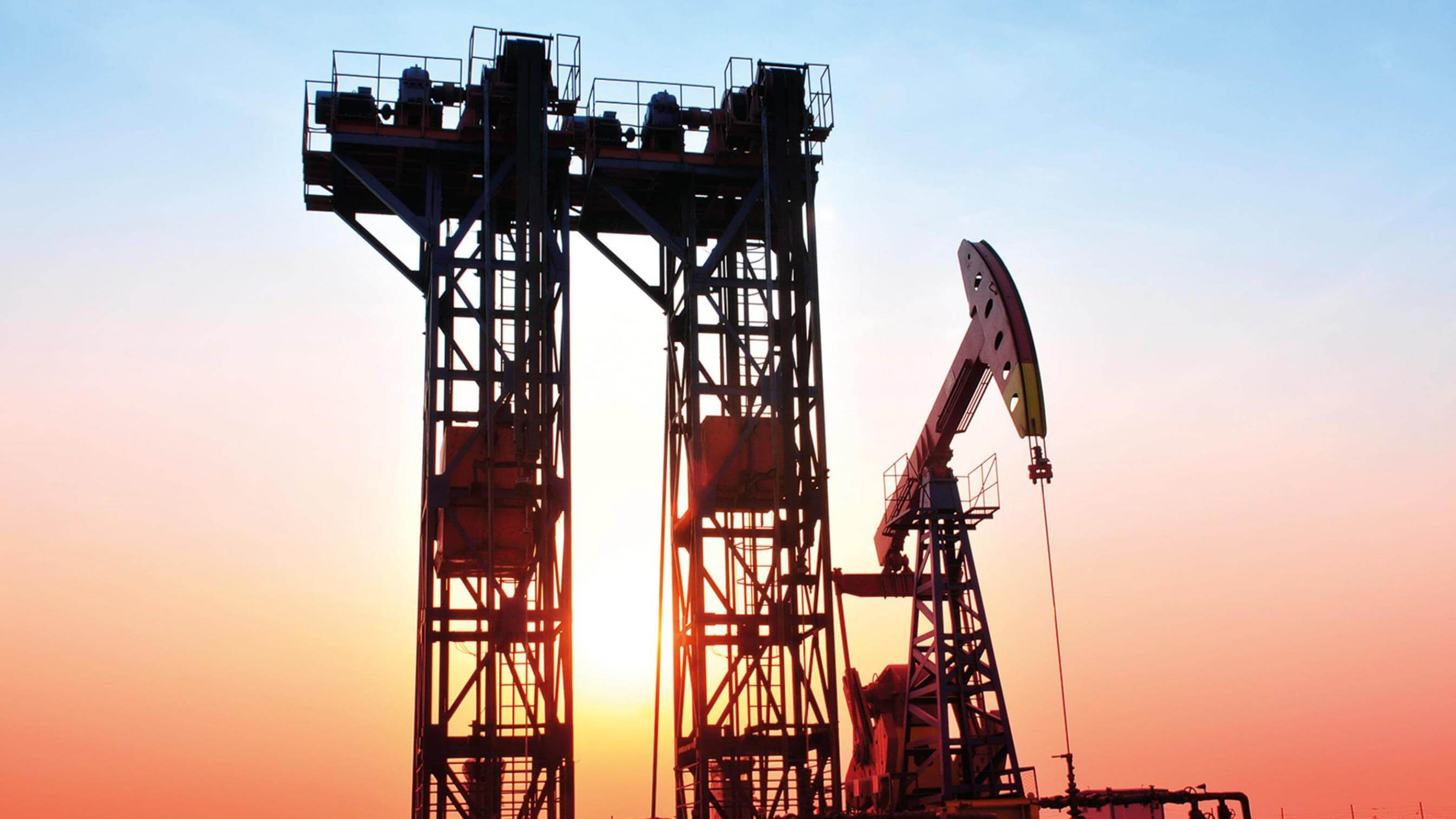 sunset oil gas well drilling