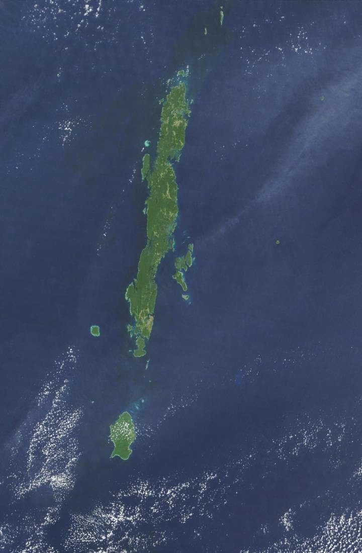 Satellite view of island
