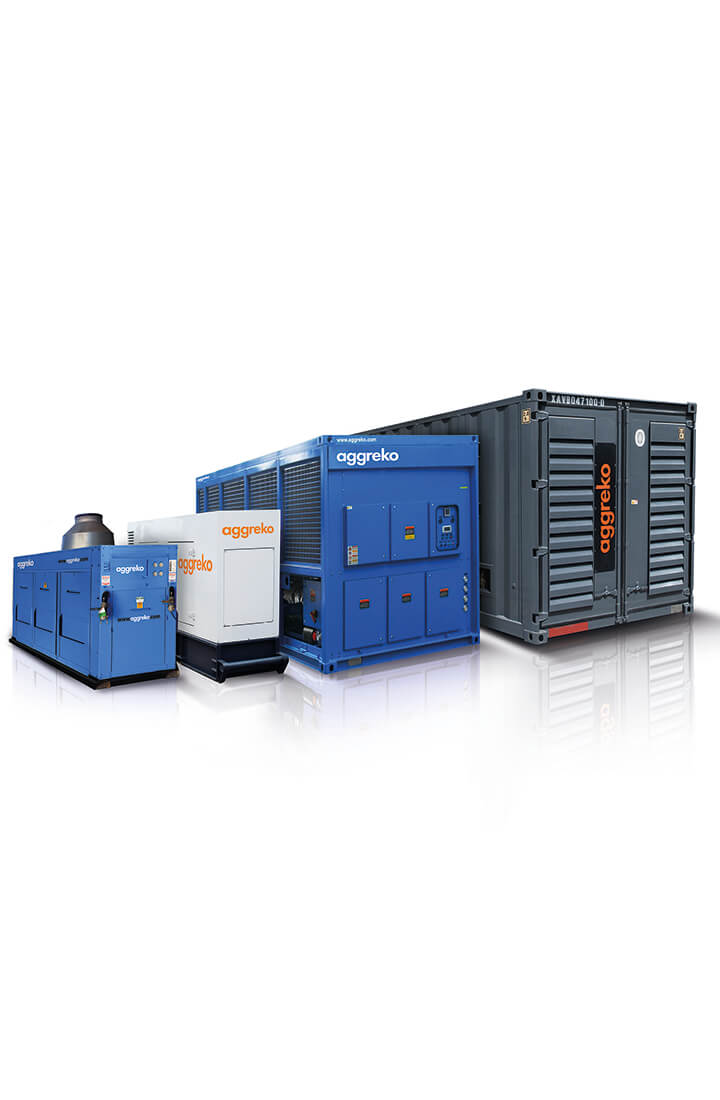 Aggreko power, cooling and heating rental