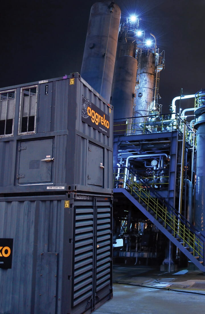 natural gas generator refinery