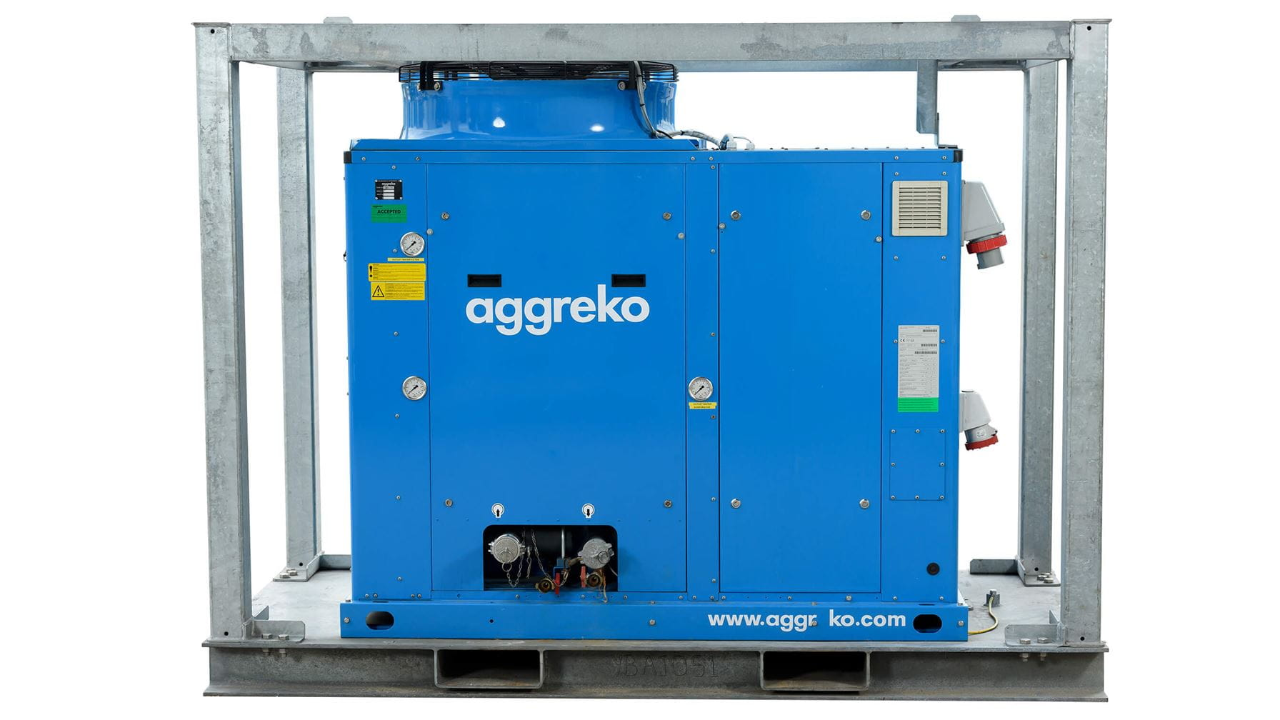 Avant groupe froid 50 kW
